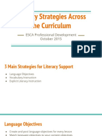 literacy strategies across the curriculum pd