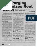 Gas Purging Optimises Root Welds