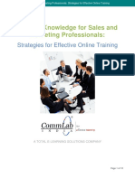 Product Knowledge Online Training Commlab
