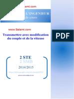 Manuelle de Cours Sciences de Lingénieur Transmettre Avec Modification Du Couple Et de La Vitesse