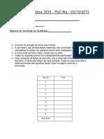 Prova de física PUC-RJ 2015