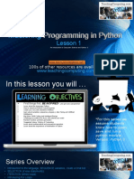 1-Mastering Python Lesson1 Introduction Variables Strings More