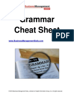 Grammer Cheatsheet