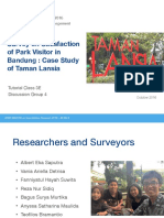 Quantitative Research on Satisfaction of Park Visitor in Bandung, Indonesia