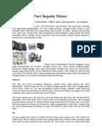 Jenis Spare Part Sepeda Motor