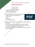 Realistic PMP Exam 1