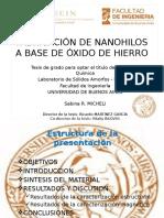 Cómo fabricar nanohilos a Base de Óxido De Hierro?