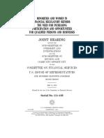 HOUSE HEARING, 111TH CONGRESS - MINORITIES AND WOMEN IN FINANCIAL REGULATORY REFORM