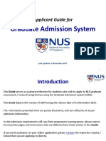 Applicant Guide for Graduate Admission System
