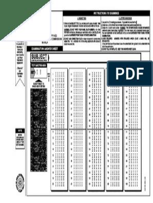 graphic relating to Printable Scantron Sheet Pdf referred to as 295180745-PRC-Solution-Sheet.pdf