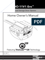 Securalift GDO-11V1 Home Owners Manual Hires Nobleeds 160037 00