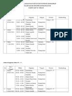 Jadwal Pelaksanaan Kegiatan Pondok Ramadhan