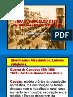Brasil República-revoltas Sociais (1889)