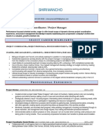 Project Coordinator Business Management in Austin TX Resume Shiri Mancho