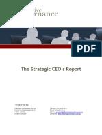 CEO Board Report Template