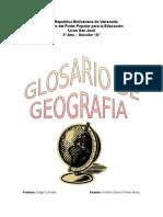 Glosario de Geografia
