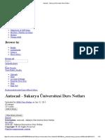 Autocad - Sakarya Üniversitesi Ders Notları