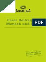 ALNATURA Nachhaltigkeitsbericht DS 2015 2016