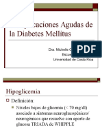 9. Complicaciones Agudas de Diabetes Mellitus. Dra. Gonzalez.
