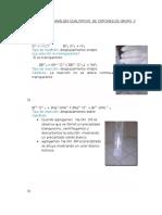 Procedimiento de Análisis Cualitativo de Cationes de Grupo II