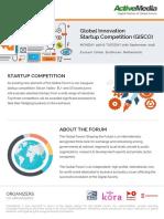 ActiveMedia Global Forum 2016 Startup Competition V15