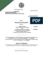 EDS v. BskyB court decisions