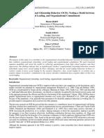 Dark Side of Organizational Citizenship Behavior (OCB)