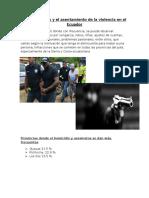 Los Asesinatos y El Asentamiento de La Violencia en El Ecuador