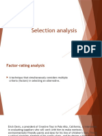 Lecture 11 - Factor-rating