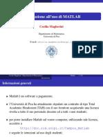 Calcolo Numerico - Matlab