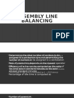 Lecture 7 - Line Balancing