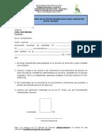 Formato de Declaracion Jurada de No Estar Inhabilitado Para c