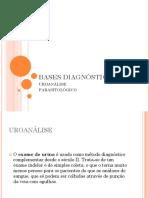 Bases Diagnósticas - Uroanálise e Parasitológico