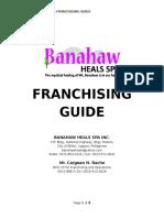 Banahaw Heals Spa Franchising Guide 2016