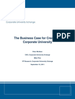 Business Case Creating a Corporate-University