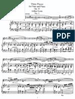 3 Pieces, Op 31 flute