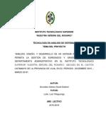 Documentación Sistema de Egresados y graduados