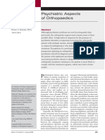 06. Psychiatric Aspects of Orthopaedics