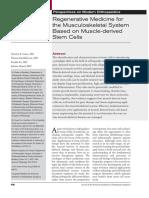 02. Regenerative Medicine for the Musculoskeletal System Based on Muscle-Derived Stem Cells