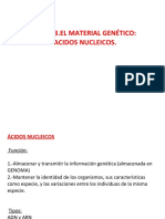 Tema 3. Bloque 1. El Material Genetico de La Celula. Acidos Nucleicos