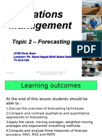Topic 2 - Forecasting