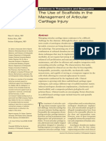 02. the Use of Scaffolds in the Management of Articular Cartilage Injury
