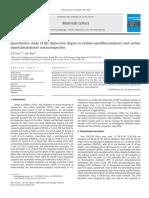 Quantitative study of the dispersion degree in carbon nanofiber/polymer and carbon nanotube/polymer nanocomposites