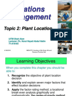 3.0-Topic 3 - Plant Location