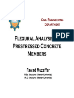 Flexural Analysis of Pre-stressed Concrete