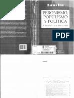 Rein, Raanan - Peronismo, Populismo y Política