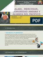 Aladi Mercosur Comunidad Andina y Alianza