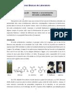 Síntesis y caracterizacción del ácido acetilsalicílico