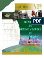 Definiciones de Reservas y Recursos de hidrocarburos
