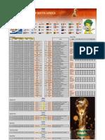 Tabela, times, estádios da copa 2010